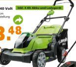 Akku-Rasenmäher 40 Volt von Greenworks