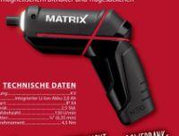 Akkuschrauber von Matrix