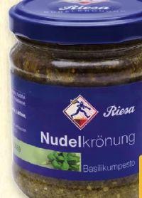 Nudelkrönung Pesto Basilikum von Riesa