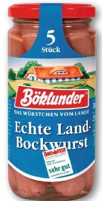 Echte Land-Bockwurst von Böklunder