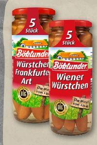 Würstchen Frankfurter Art von Böklunder
