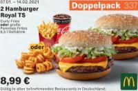 2 Hamburger Royal TS 337 von McDonald's