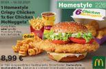 1 Homestyle Crispy Chicken 1x 6er Chicken McNuggets 226 von McDonald's