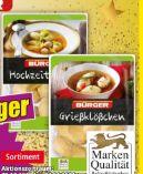 Suppeneinlagen von Bürger