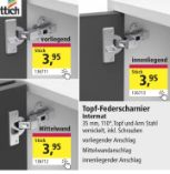 Intermat Federscharnier-Set von Hettich