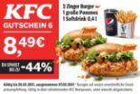 2 Zinger Burger + 1 große Pommes + 1 Softdrink 0.4 l von KFC