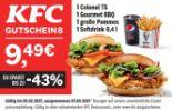 1 Colonel TS 1 Gourmet BBQ 1 große Pommes 1 Softdrink 0,4 l von KFC