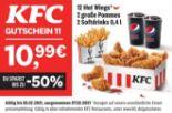 12 Hot Wings + 2 große Pommes + 2 Softdrinks von KFC