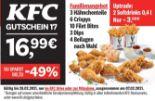 Familienangebot 3 Hähnchenteile 6 Crispys 10 Filet Bites 3 Dips 4 Beilagen nach Wahl von KFC