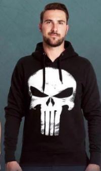 Herren Hoodie Punisher Skull Logo von Elbenwald