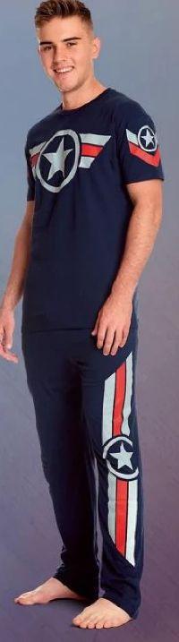 Herren Pyjama Captain America Soldier von Elbenwald