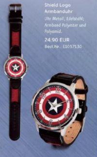 Armbanduhr Captain America Shield Logo von Elbenwald