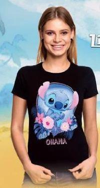 Damen T-Shirt Ohana Lilo & Stitch von Elbenwald