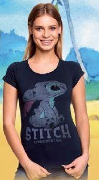 Damen T-Shirt Stitch Lilo & Stitch von Elbenwald