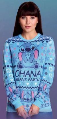 Damen-Strickpullover Ohana Means Family Lilo & Stitch von Elbenwald