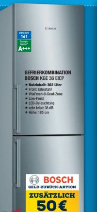 Gefrierkombination KGE36EICP von Bosch