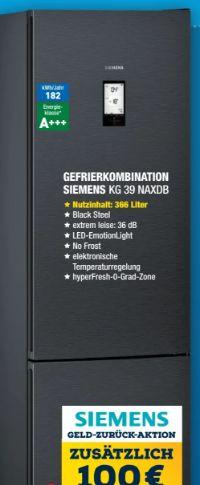 Kühl-Gefrierkombination KG39NAXDB von Siemens