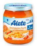 Menüs von Alete