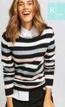 Damen-Streifen Pullover von K Town