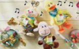 Musikalische Plüschfiguren mit Schokolade von Favorina
