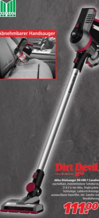 Hand-/Akkusauger Cavalier DD 698-1 von Dirt Devil
