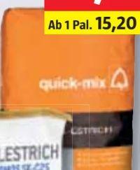 Schnell-Estrich von Quick-Mix