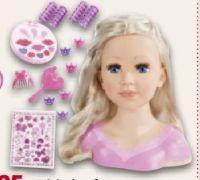 Frisierkopf mit Kosmetik von Bayer Puppen