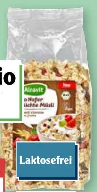 Bio Hafer Früchte Müsli von Alnavit