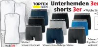 Herren Unterhemden 3er Pack von Toptex Pro