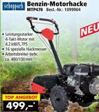 Benzin-Motorhacke MTP470 von Scheppach