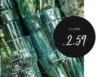 Gläser von Depot