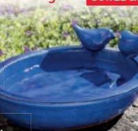 Keramik-Vogeltränke von Powertec Garden