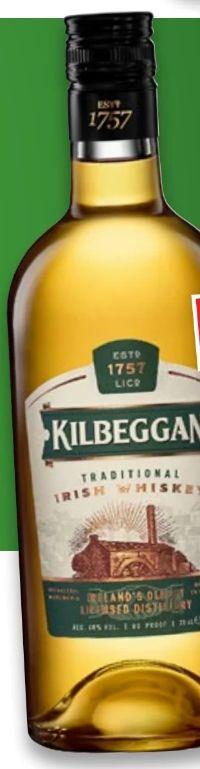 Traditional Irish Whiskey von Kilbeggan