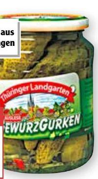 Schweizer Sauerkonserven Gewürzgurken von Thüringer Landgarten