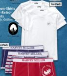 Herren-Shirts 3er-Pack von Harvey Miller
