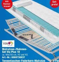 Matratzen-/Rahmen-Set 10 von Via Plus