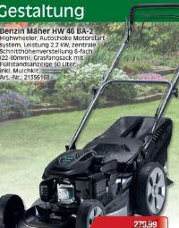 Benzin Rasenmäher HW 46 BA H-2 von Mr. Gardener