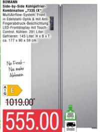Side-by-Side Kühlgefrier-Kombination 7335 IX von Bomann