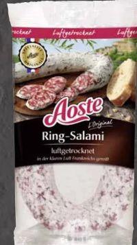 Original Ringsalami von Aoste