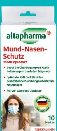 Mund-Nasen-Schutz von Altapharma