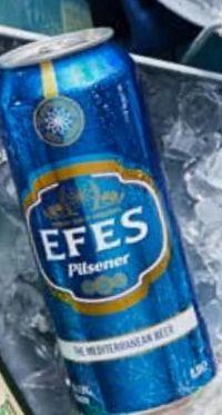 Bier von Efes Pilsener