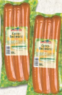 Curry-Bockwurst von Bauern Gut