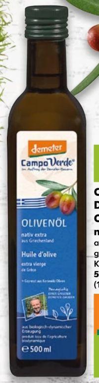 Bio Demeter Olivenöl Nativ Extra von Campo Verde