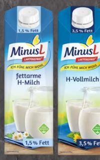 Laktosefreie H-Milch von Minus L