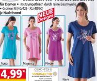 Damen Kurzarm-Nachthemd von ElleNor
