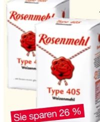 Weizenmehl Type 405 von Rosenmehl
