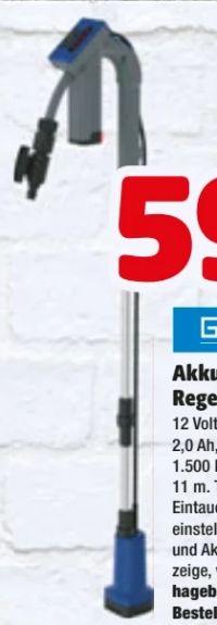 Akku-Regenfasspumpe von Güde