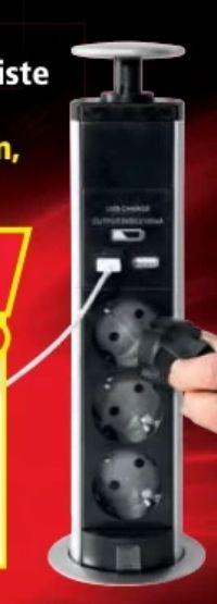 Versenkbare Steckdosenleiste von Powertec Energy