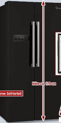 Side-by-Side Kühl-/Gefrierkombination MDRS710FGF30 von Midea