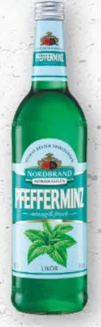 Pfefferminz Likör von Nordbrand Nordhausen